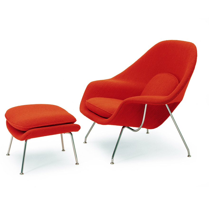 Saarinen Womb Chair and Ottoman | Knoll