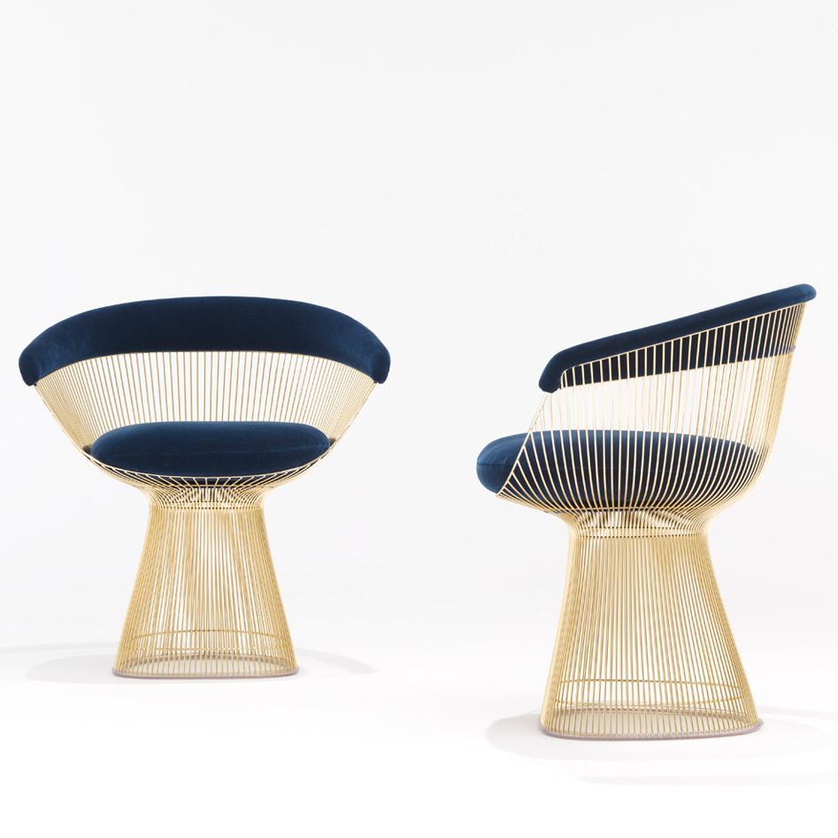... Platner Side Chair - Gold image 1 ...