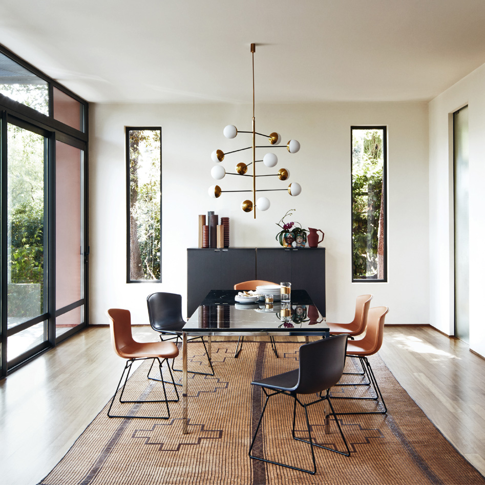 Bertoia chair dining room -  Bertoia Side Chair In Cowhide