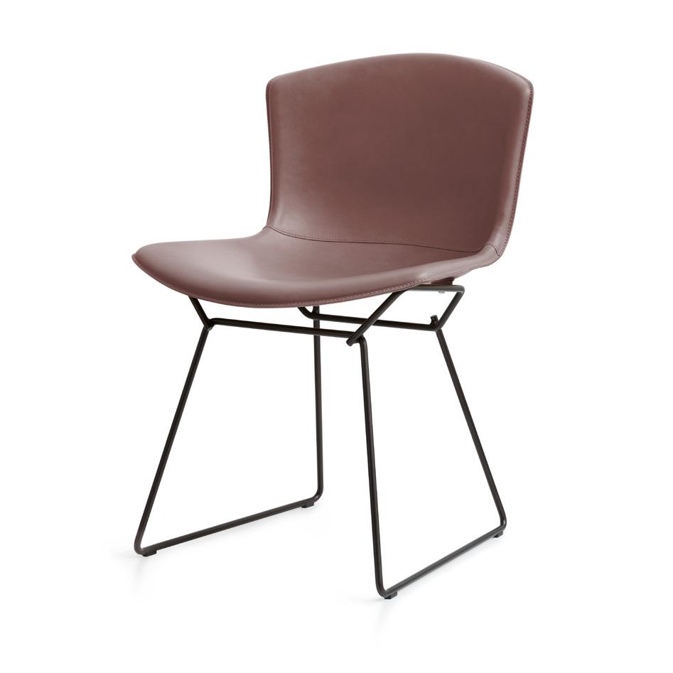 bertoia plastic side chair in cowhide knoll. Black Bedroom Furniture Sets. Home Design Ideas