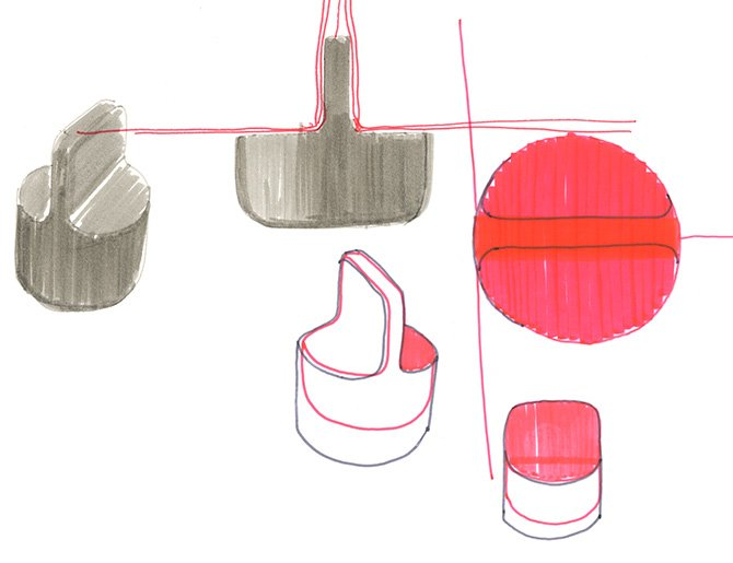 Barber Osgerby Sofa Sketches