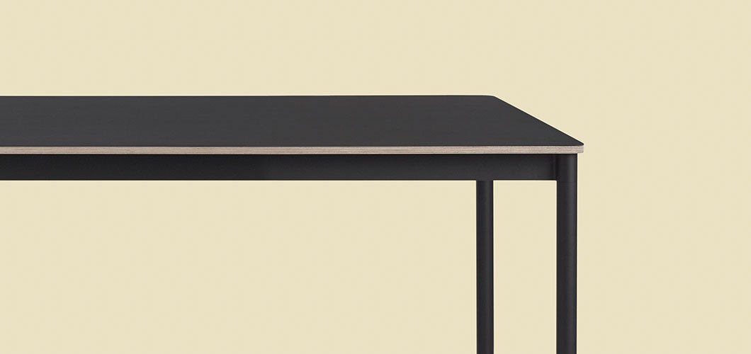 Muuto Base Table - Black Plywood