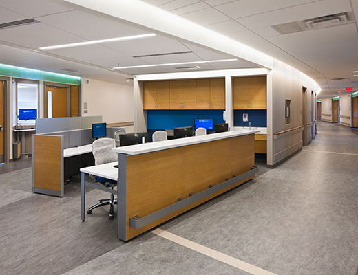 Nurse Station for Mercy West - West Hospital Knoll Project Profile
