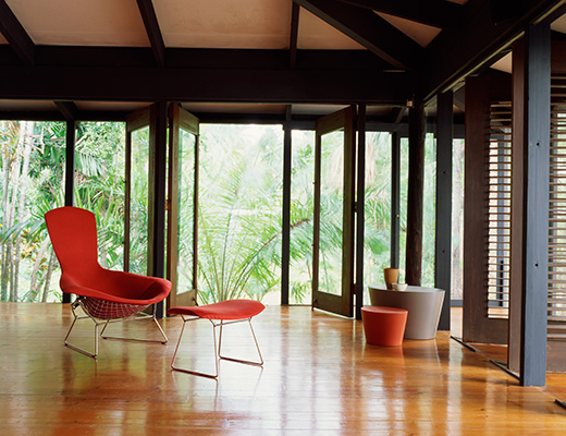 Bertoia Bird High Back Chair and Ottoman, Maya Lin