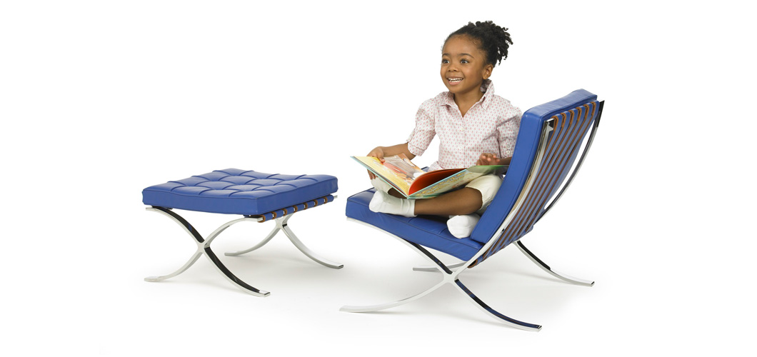 Knoll Mlies Childs Barcelona Chair by Ludwig Mlies van der Rohe