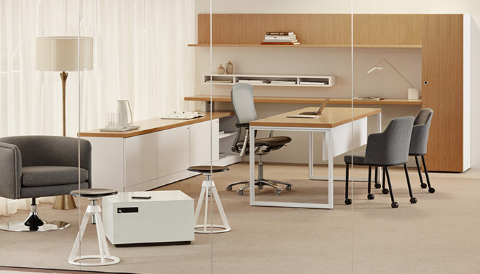 Reff Profiles™ with Life Chair, Remix Side chairs, D
