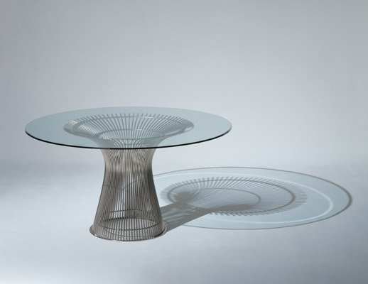 Knoll wire and glass Platner Dining Table