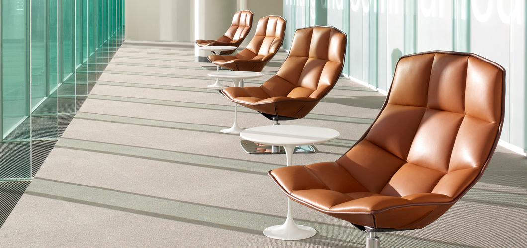 Jehs and Laub Chairs with Saarinen Side tables