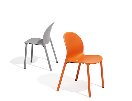 Grey and Orange Olivares Aluminum Chairs