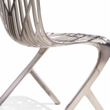 David Adjaye the Washington Collection Skeleton Chair Nickel