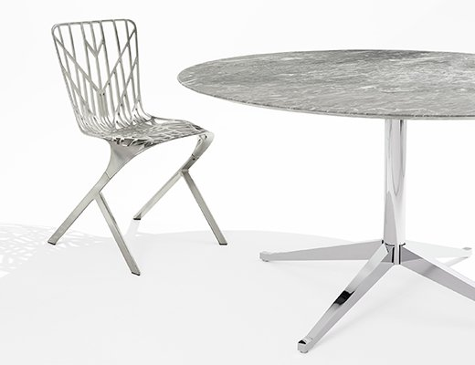 KnollStudio Washington SKeleton Chair and Florence Knoll Desk