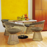 Platner Dining Chairs and Noguchi Cyclone Table residential installation