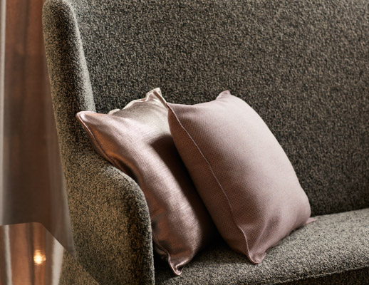 neocon showroom 2017 rockwell unscripted pillow highback settee