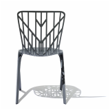 Washington Skeleton Chair in grey powder coat finish