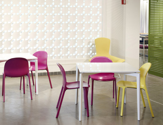 Stromborg Tables and Olivares Aluminum Chairs