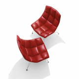 Jehs+Laub Lounge Chair in leather