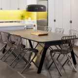 rockwell unscripted sawhorse table washington skeleton aluminum chair david adjaye muuto corky carafe and glasses san francisco showroom