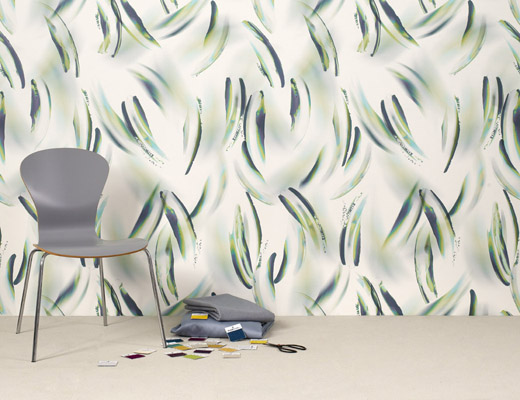 Swoosh wallcovering by Trove for KnollTextiles