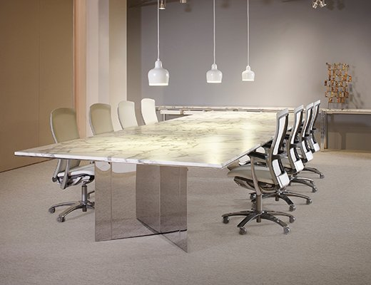 LSM Conference Table Series VBase Knoll - Marble conference table for sale