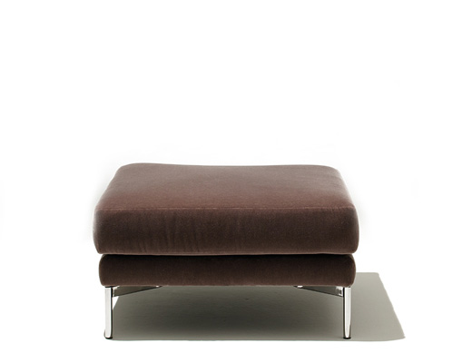 Divina Lounge Collection Ottoman in Espresso Knoll Velvet