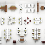 Knoll Antenna Workspaces Office Layout