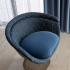 Arrondissement and Oh La La upholstered chair with Cyclone and Bon Nuit drapery