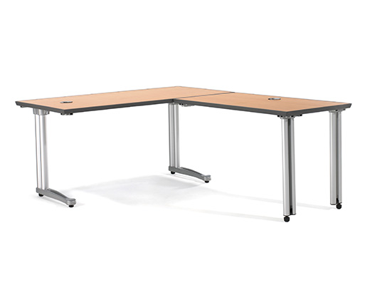 Propeller Rectangular Desk with Return