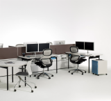 Antenna Workspaces with Generation by Knoll Task Seating Storage Sapper Double Monitor MultiGeneration by Knoll