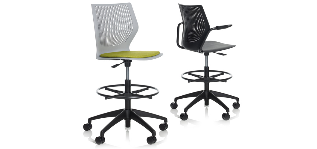 MultiGeneration by Knoll High Task Chair Armless Knoll