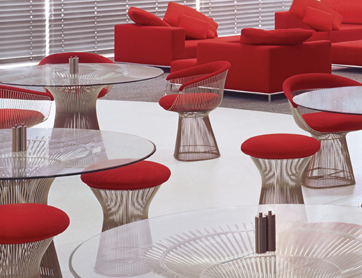 Platner Dining Tables, Arm Chairs and Stools