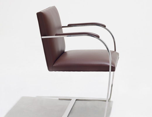 Incroyable ... Flat Bar Brno Chair In Brown Leather Upholstery ...