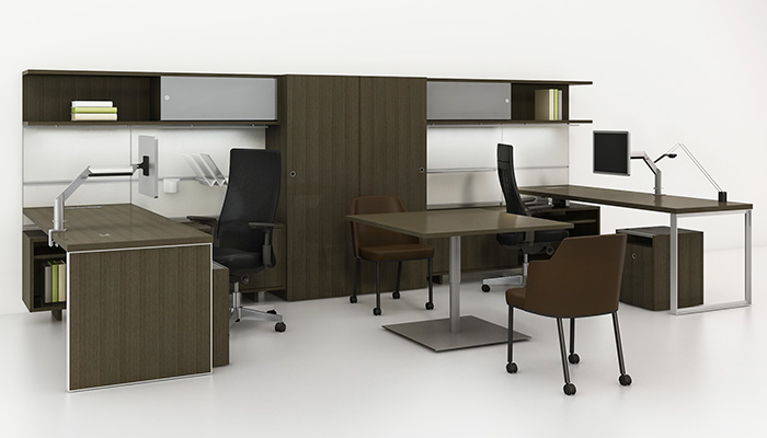 Remix High Back Chair and Side Chair with Reff Profiles shared private office