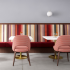 KnollTextiles The Destination Collection Upholstery Wallcovering restaurant café utopia stripe it vice versa drift
