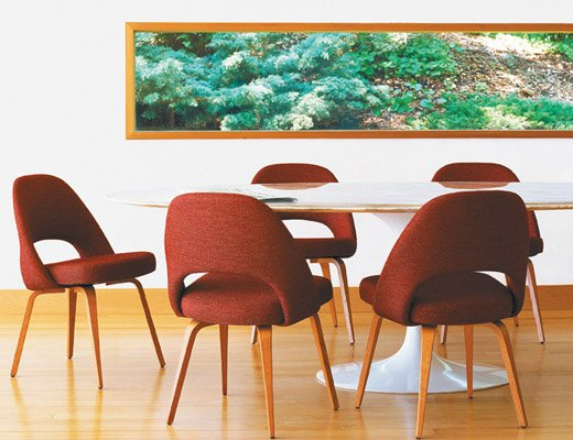 Saarinen Oval Dining Table, Saarinen Executive Arm