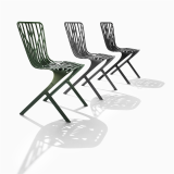Washington Skeleton Chair in green powder coat finish