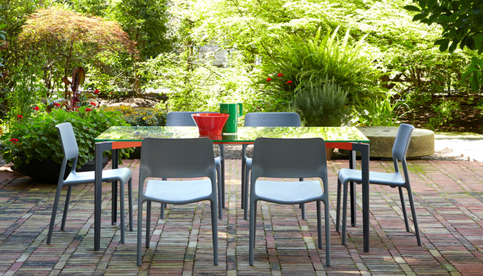 Stromborg Dining Table with Spark Side Chairs