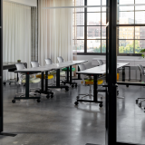 knoll design days fulton market pixel training room ollo glen oliver loew pixel training tables marc krusin training room education