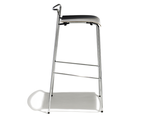 CHIP chrome barstool silhouette