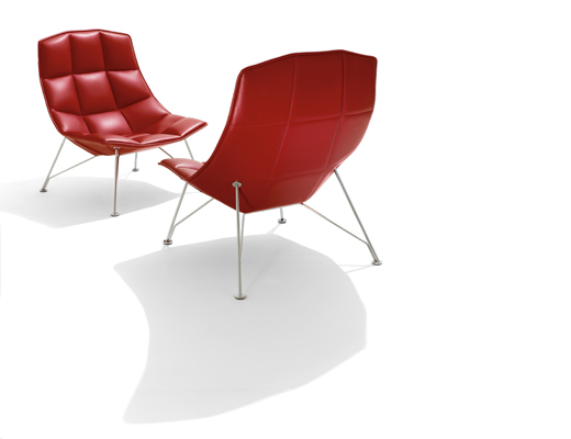 ... Jehs+Laub Lounge Chair In Leather ...