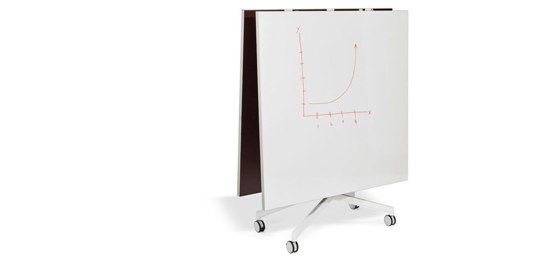 Pixel Y-Fold Markerboard Meeting Tables by Knoll
