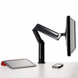 Knoll Jet Black Sapper XYZ Monitor Arm