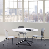 Florence Knoll Round Table Desk, Sprite Chair