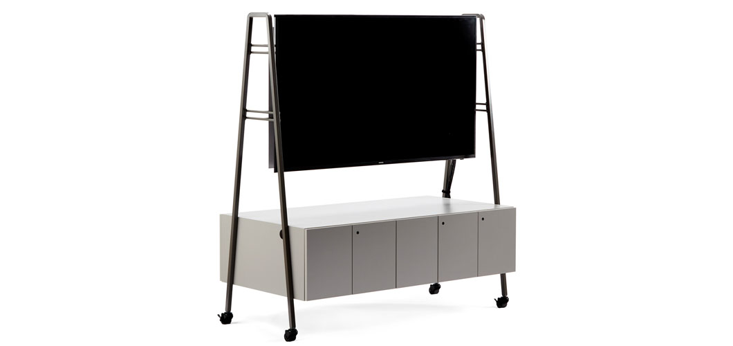 Rockwell Unscripted Media Cart for the open plan immersive workplace