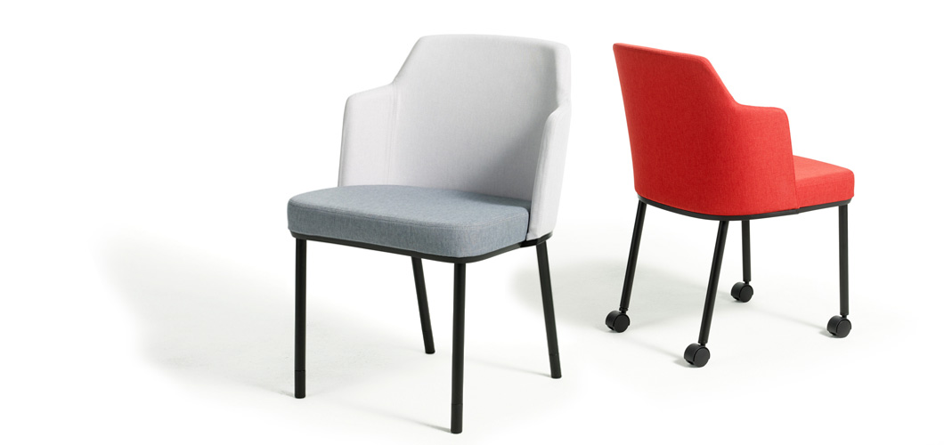 Remix Upholstered Side Chair by Knoll