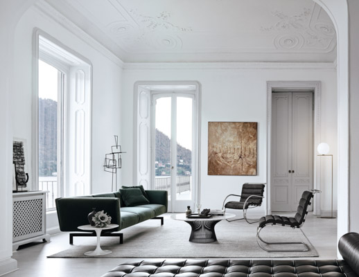 avio sofa piero lissoni eero saarinen side table warren platner coffee table ludwig mies van der rohe mr lounge chair