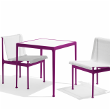 1966 Collection Dining Armless Chair Square Dining Table plum Richard Schultz patio outdoor furniture