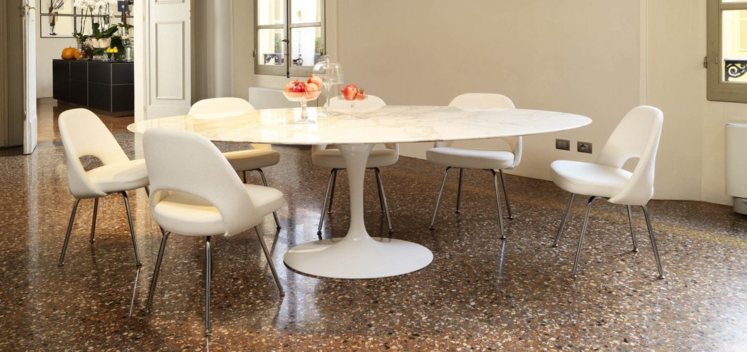 Saarinen dining table oval knoll - Tavolo tulip knoll ...
