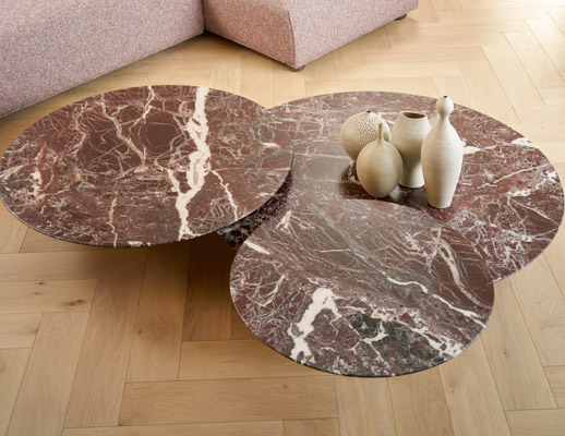 grasshopper low tables piero lissoni coffee table rosso rubino marble