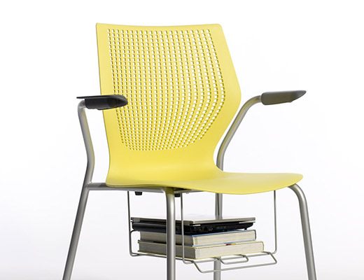MultiGeneration Stacking Chair with Book Basket
