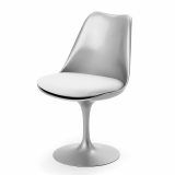 Tulip Chair in Platinum finish